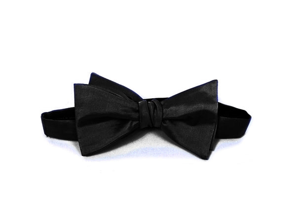 The Sandringham Silk Black Bow Tie