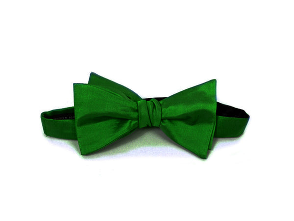 The Abercorn Silk Green Bow Tie