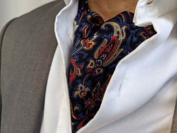 ascot tie for sale paisley blue