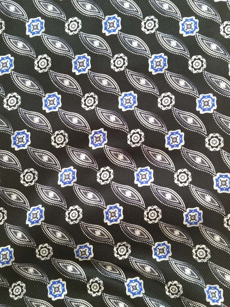 Black Ascot - Silk Pattern