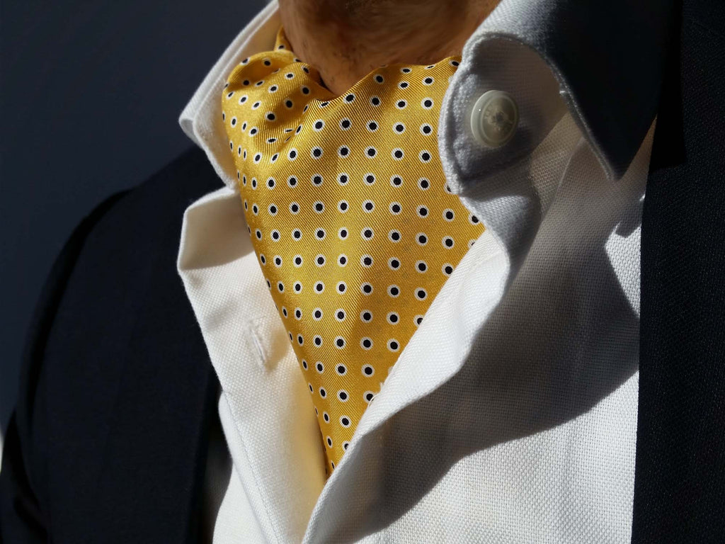 Ascot Tie For Sale - Yellow Silk Ascots