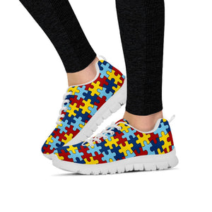 Ladies Autism Awareness Sneakers Running Shoes - Love Family & Home