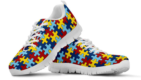 Kid's Running Shoes Autism Awareness EXP - Spicy Prints