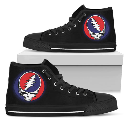 Steal Your Face Grateful Dead Canvas Print Men's High Top