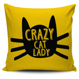 "Crazy Cat Lady 18"" Pillow Cover"