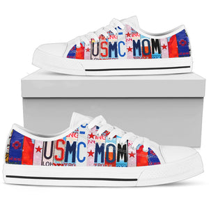 Proud USMC Mom Low Top Shoes - Love Family & Home