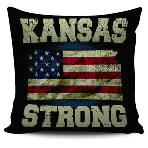 "Kansas Strong 18"" Pillow Cover - Love Family & Home"