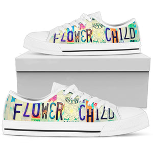 Flower Child On The Way Low Top (white) - Love Family & Home