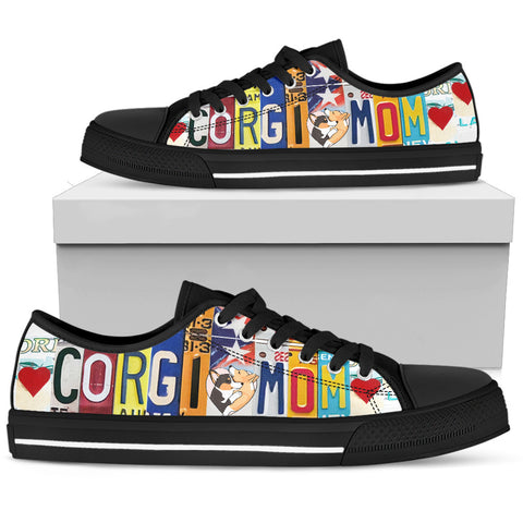 Corgi Mom Women's Low-Top Shoes - Love Family & Home