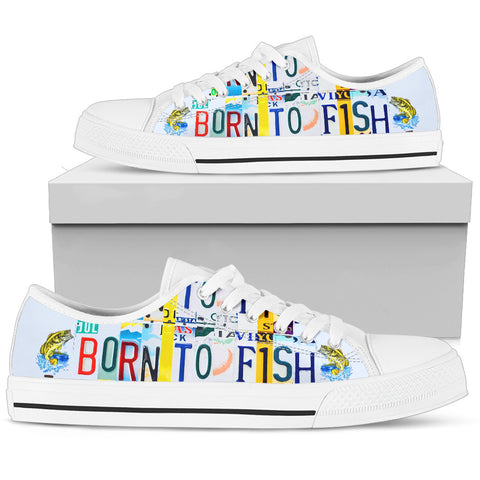 Born To Fish Men's Low Top Shoes - Love Family & Home