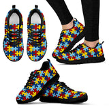 Autism Awareness Sneakers Running Shoes For Ladies