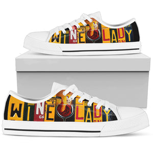 Wine Lady Low Top Shoes - Love Family & Home