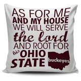 "Root For Ohio State Buckeyes 18"" Pillow Cover"