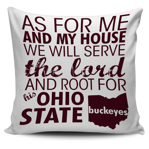 "Root For Ohio State Buckeyes 18"" Pillow Cover - Love Family & Home"