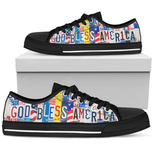 God Bless America Low Top Shoes - Love Family & Home