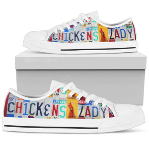 Chickens Lady Low Top Shoes - Love Family & Home