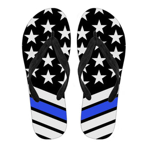 Thin Blue Line Flip Flops - Love Family & Home