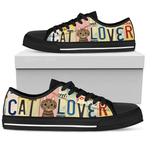 Cat Lover Low Top Shoes - Love Family & Home