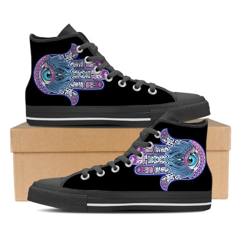 Hand Of Knowledge Women's High Top Canvas Shoes - Love Family & Home