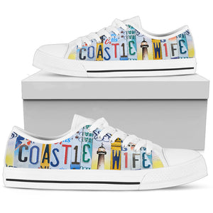Coastie Wife Low Top Shoes - Love Family & Home
