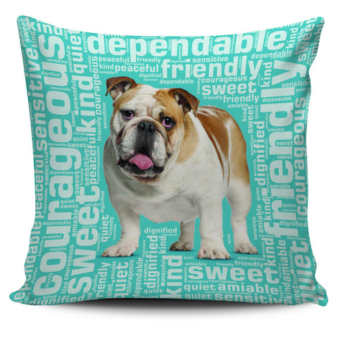 "Bulldog 18"" Pillow Cover - Love Family & Home"