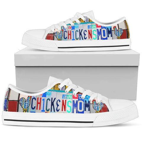 Chicken Mom Women's Low Top Shoes - Love Family & Home