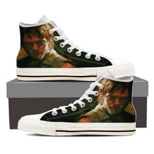 Daryl  - Ladies High Top Canvas Shoes - Love Family & Home