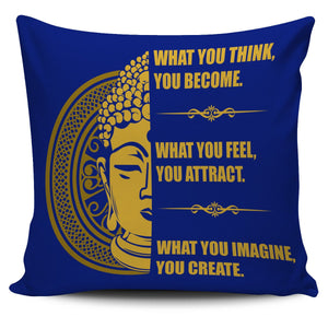 "Buddha Mind Body 18"" Pillow Cover - Love Family & Home"