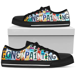 Gone Painting Low Top Shoes - Love Family & Home