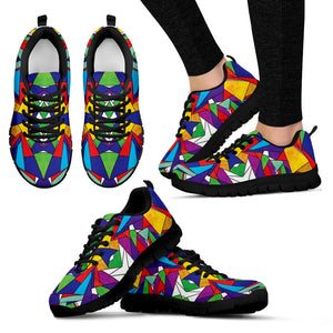 Colorful Sneakers, Women's Colorful Geometric Shoes - Love Family & Home