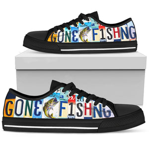 Gone Fishing Low Top Shoe - Love Family & Home