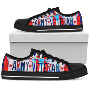 Army Veteran Women's Low Top Shoe - Love Family & Home