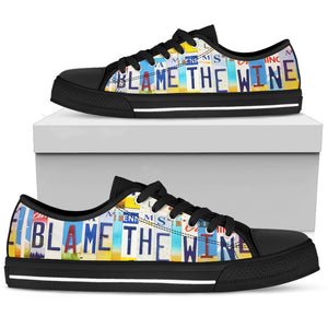 Blame The Wine Low Top - Love Family & Home