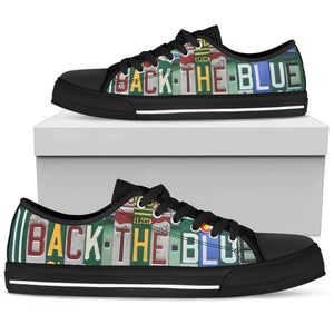 Back The Blue Low Top - Love Family & Home