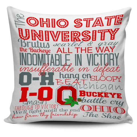 "Ohio State Sayings 18"" Pillow Cover - Love Family & Home"