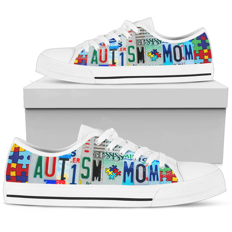Autism Mom Low Puzzle Piece Top Shoes - Love Family & Home