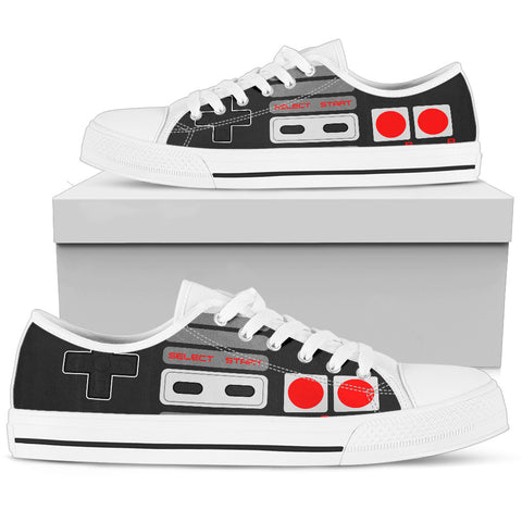 Image of Retro Game Controller Low Top Shoes - Love Family & Home