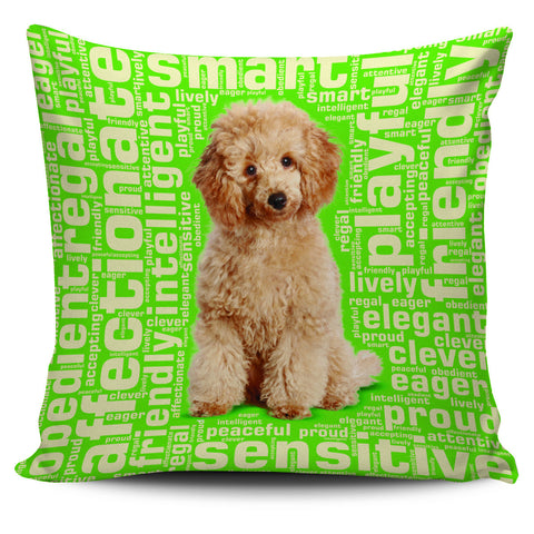 "Image of Poodle 18"" Pillow Cover - Love Family & Home"