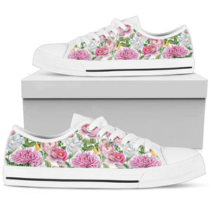 Watercolor Floral Women's Low Top Shoes - Love Family & Home