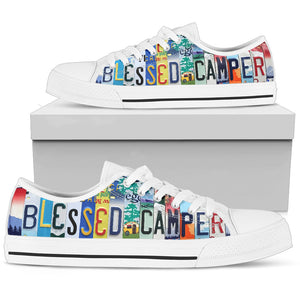 Blessed Camper Low Top - Love Family & Home