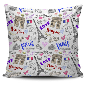 "Paris France Eiffel Tower 18"" Pillow Covers - Love Family & Home"