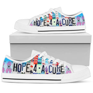 Hope For A Cure Low Top Shoes - Love Family & Home