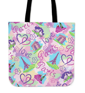 "Paris France Style 16"" Tote Bag - Love Family & Home"