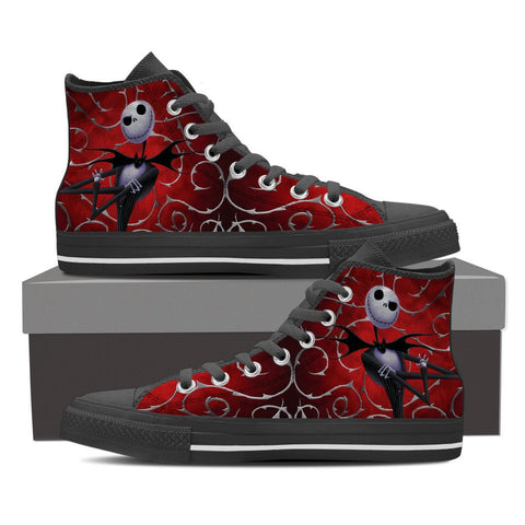 Nightmare Before Christmas Ladies Canvas High Tops Jack Skellington - Royal Crown Pro