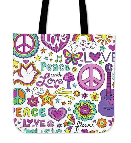 Image of Peace Love & Music Tote Bag - Love Family & Home