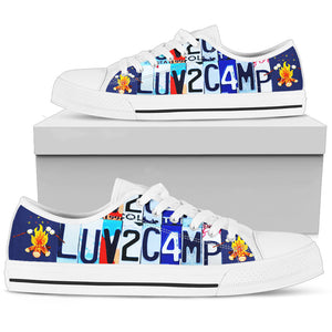 Luv 2 Camp - Low Top - Love Family & Home