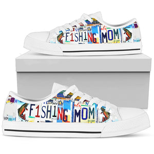 Fishing Mom Low Top Shoes - Love Family & Home