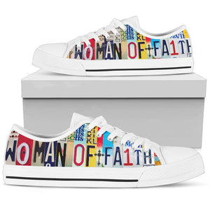 Woman Of Faith Low Top Shoes - Love Family & Home