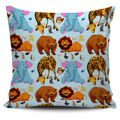 "Image of Cute Animal Print 18"" Pillow Covers - Love Family & Home"