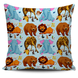 "Cute Animal Print 18"" Pillow Covers - Love Family & Home"